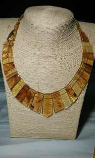 🚚 Amber Necklace (Cleopatra Necklace) with genuine burmite amber