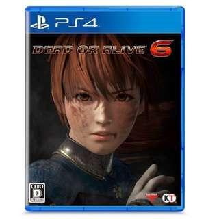 預訂 PS4 Dead or Alive 6 生死格鬥 6 普通版 行貨中英日文版 發售日:2019年2月15日