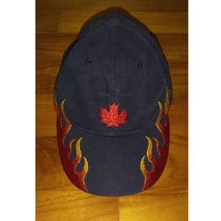 Canadian Cap with Maple Leaf and Flames