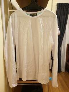 White Long-Sleeved Top #Jan55