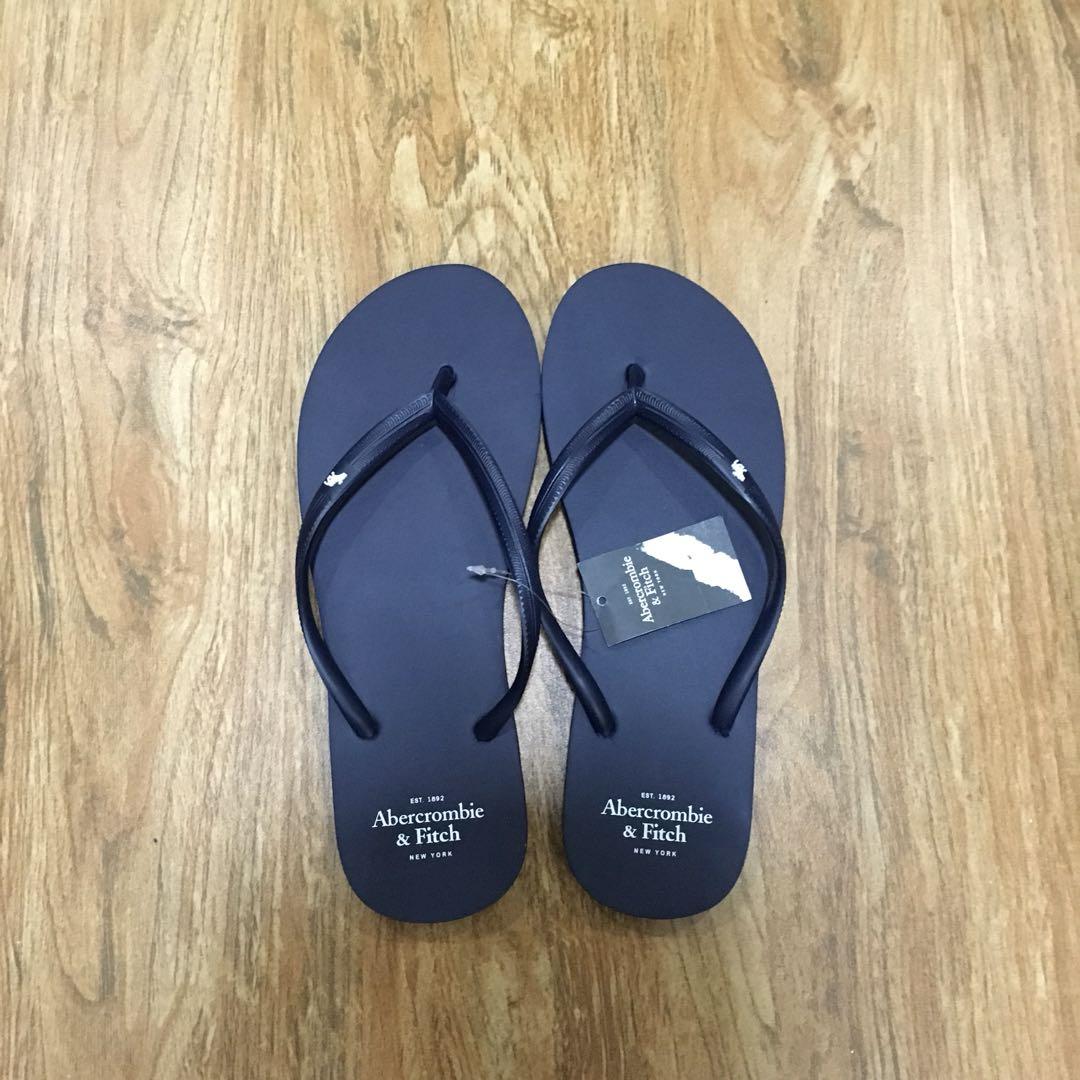 d3434d9981e Abercrombie and Fitch Women s Navy Blue Flip Flops