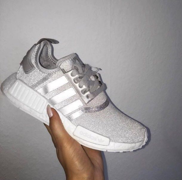 49f7f1bf9 Adidas NMD silver   white Reflective