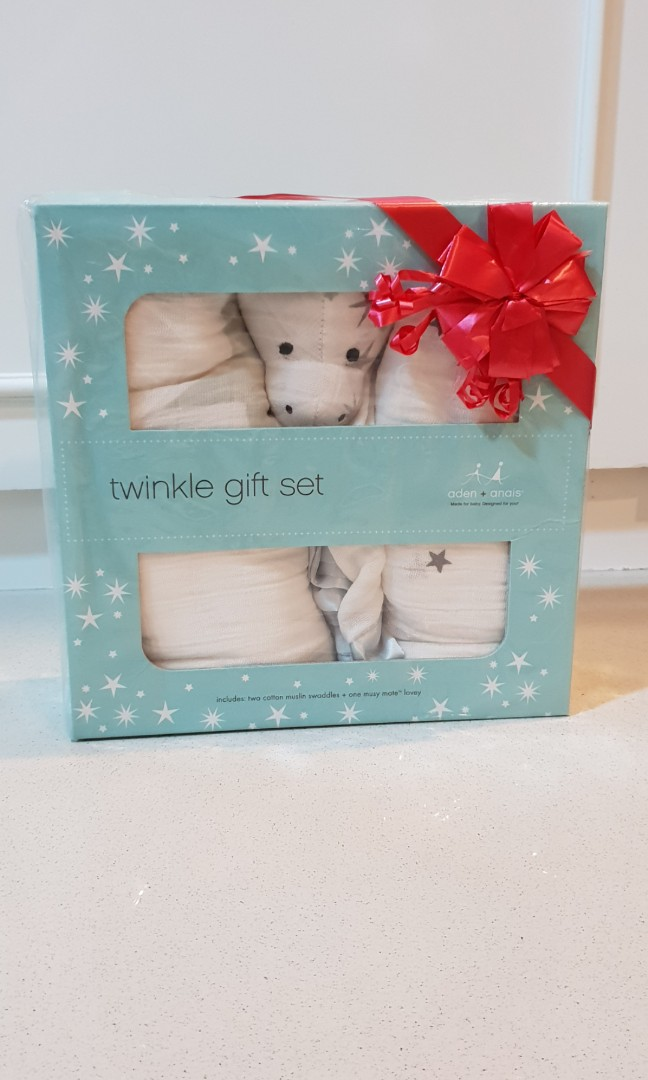 Aden Anais Twinkle Gift Set 2 Swaddle 1 Musy Mate