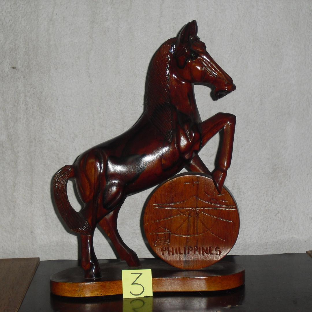 Antique Wooden Horse Furniture Home