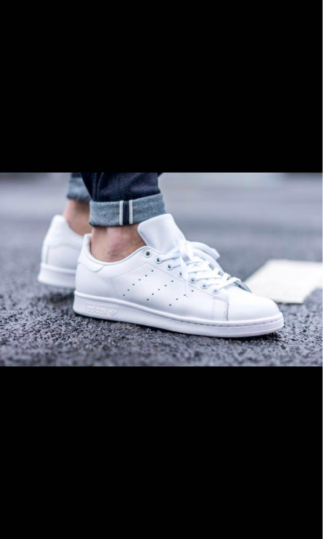 new product 1c4c4 8ce35 AUTHENTIC Adidas Stan smith triple white, Women's Fashion ...