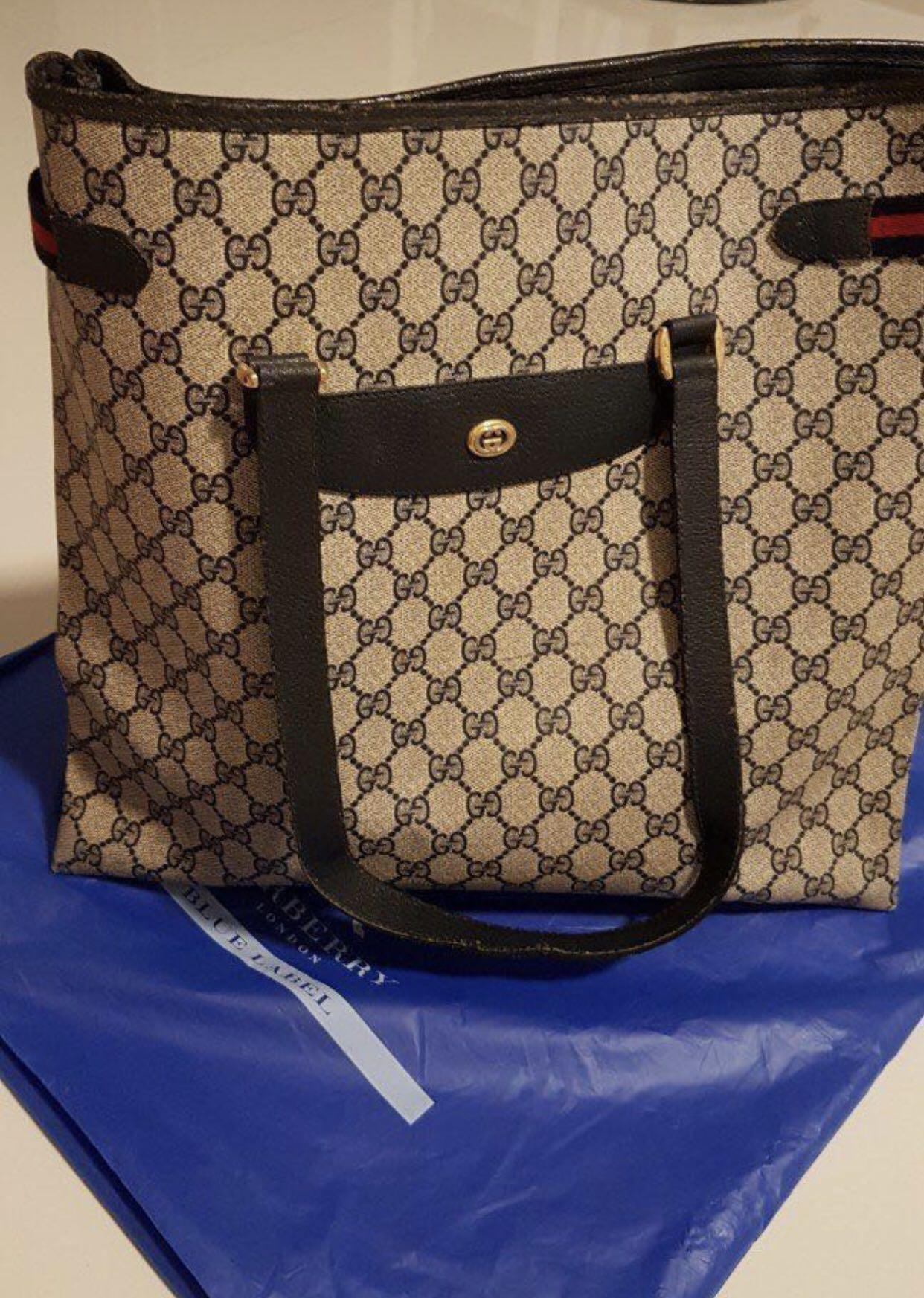 8920ae0771616 Authentic Gucci Bag (Vintage) made in Italy, Luxury, Bags & Wallets ...