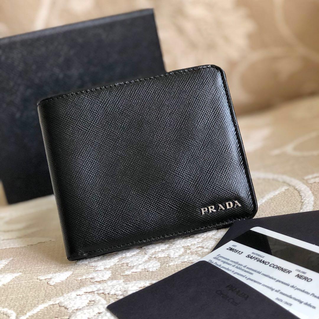 9fcbca86aa03 Authentic Prada Saffiano Men's Leather Wallet, Luxury, Bags ...