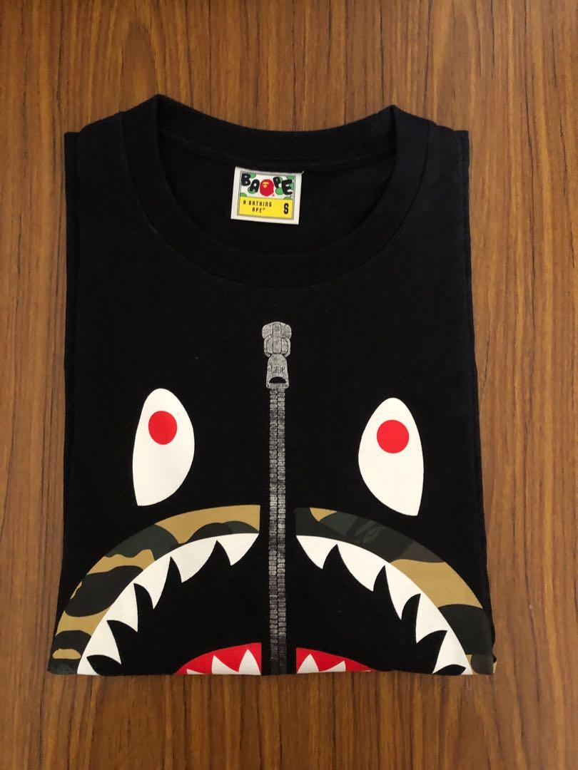 76276f31 Bape 1st camo shark tee, Men's Fashion, Clothes, Tops on Carousell