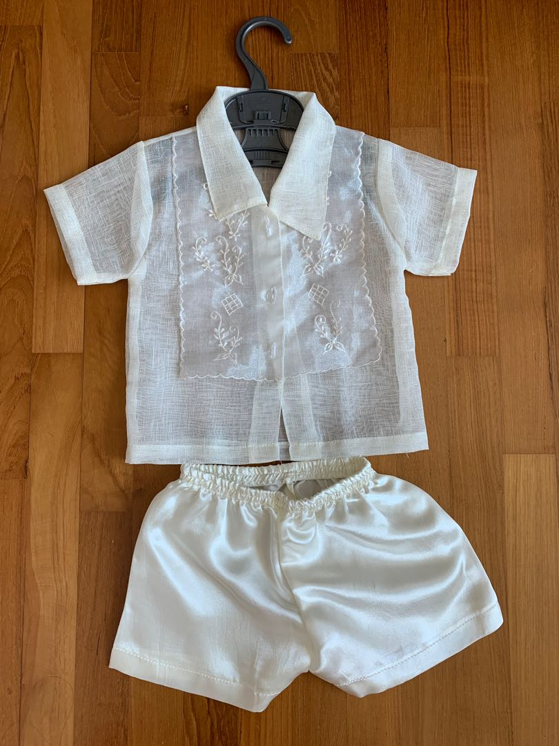 Barong For Baby Boy Filipino Traditional Wear