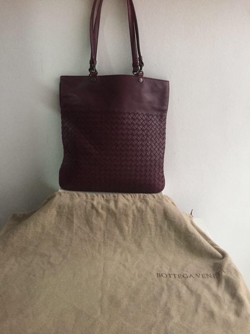 Bottega Veneta tote Bag in Maroon lilac a8bfb2a8e880e