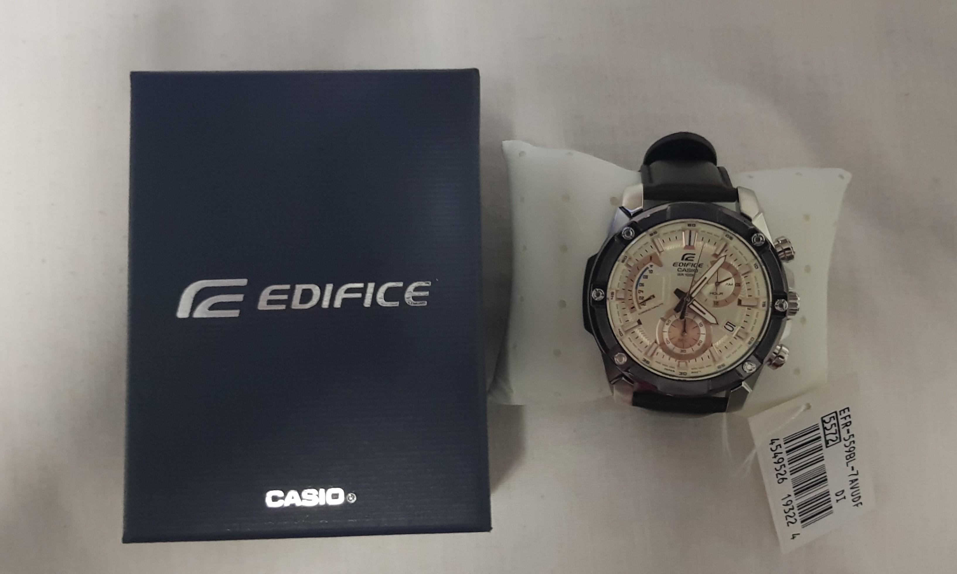 Casio Edifice Chronograph Bnb Men S Fashion Watches On Carousell