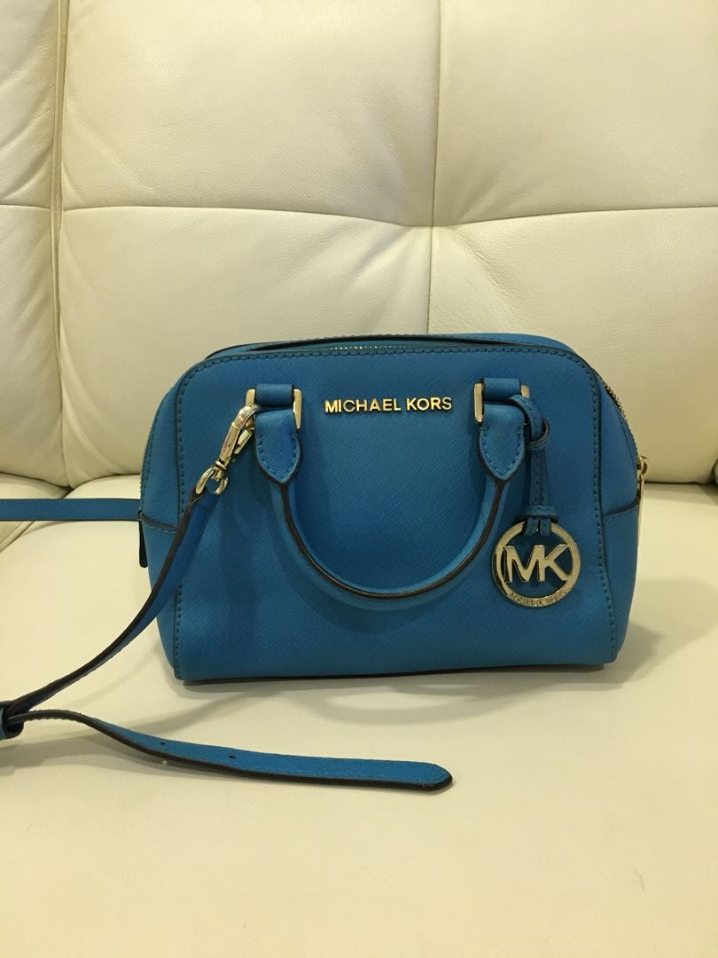 08f07063dc07 CHEAP!] Authentic Michael Kors Teal Leather Sling Bag, Women's ...
