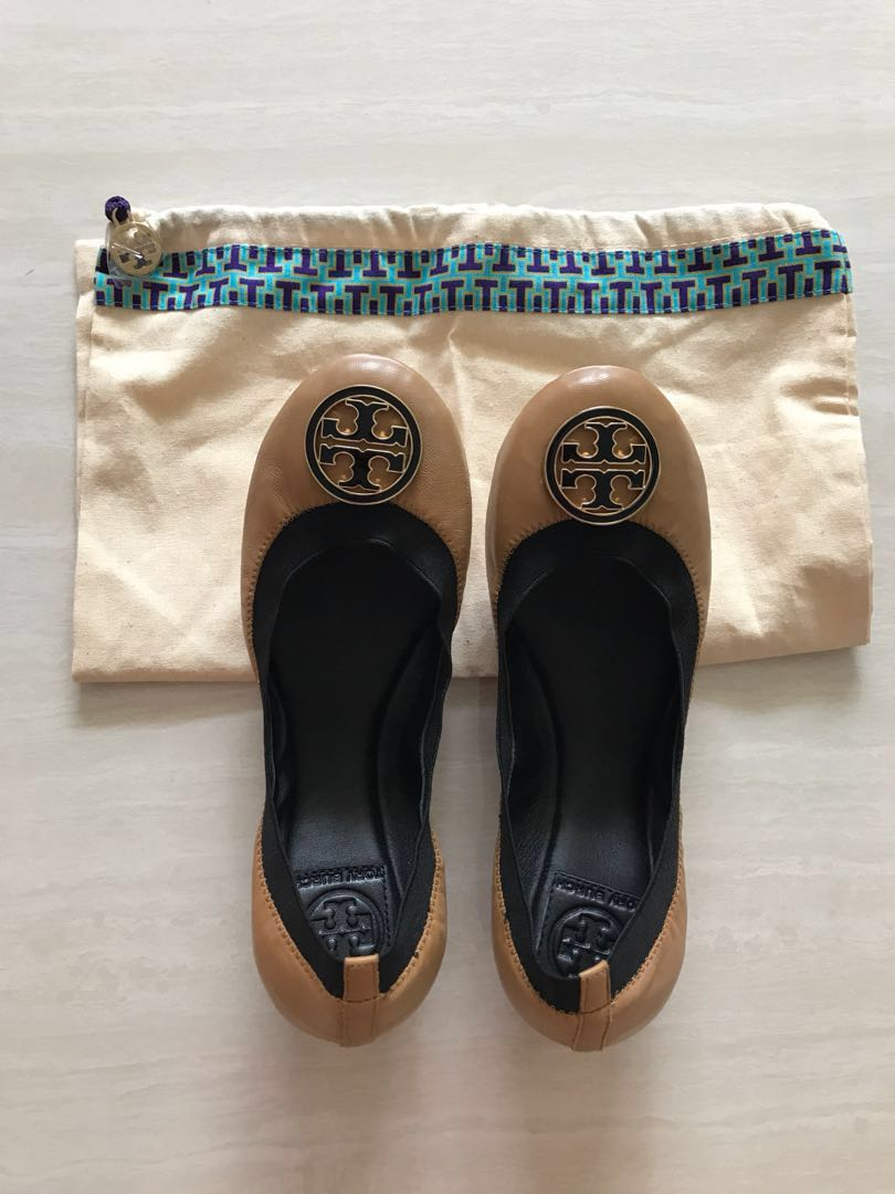 d64ce0107d1a ‼️CNY Special - Brand new Tory Burch Caroline Ballet Shoes flats (Brown)