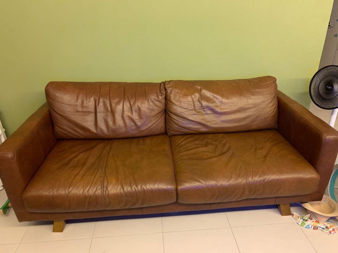 Real Leather Sofa Furniture Sofas