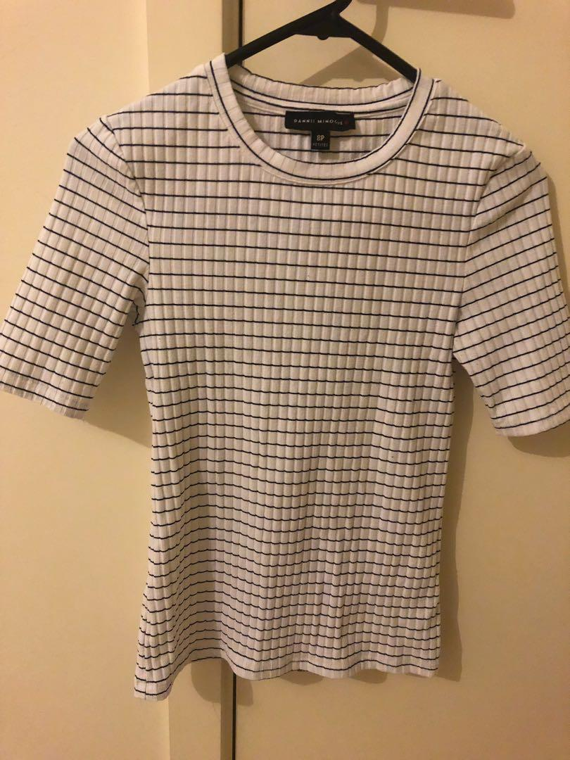 Dannii Minogue for target white with black stripe fitted top