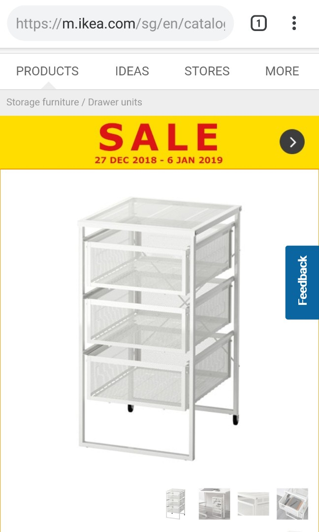 Drawers Unit Ikea Furniture Shelves Drawers On Carousell