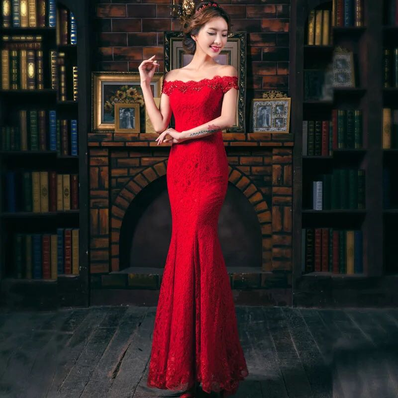 Hot Red Evening Dresses
