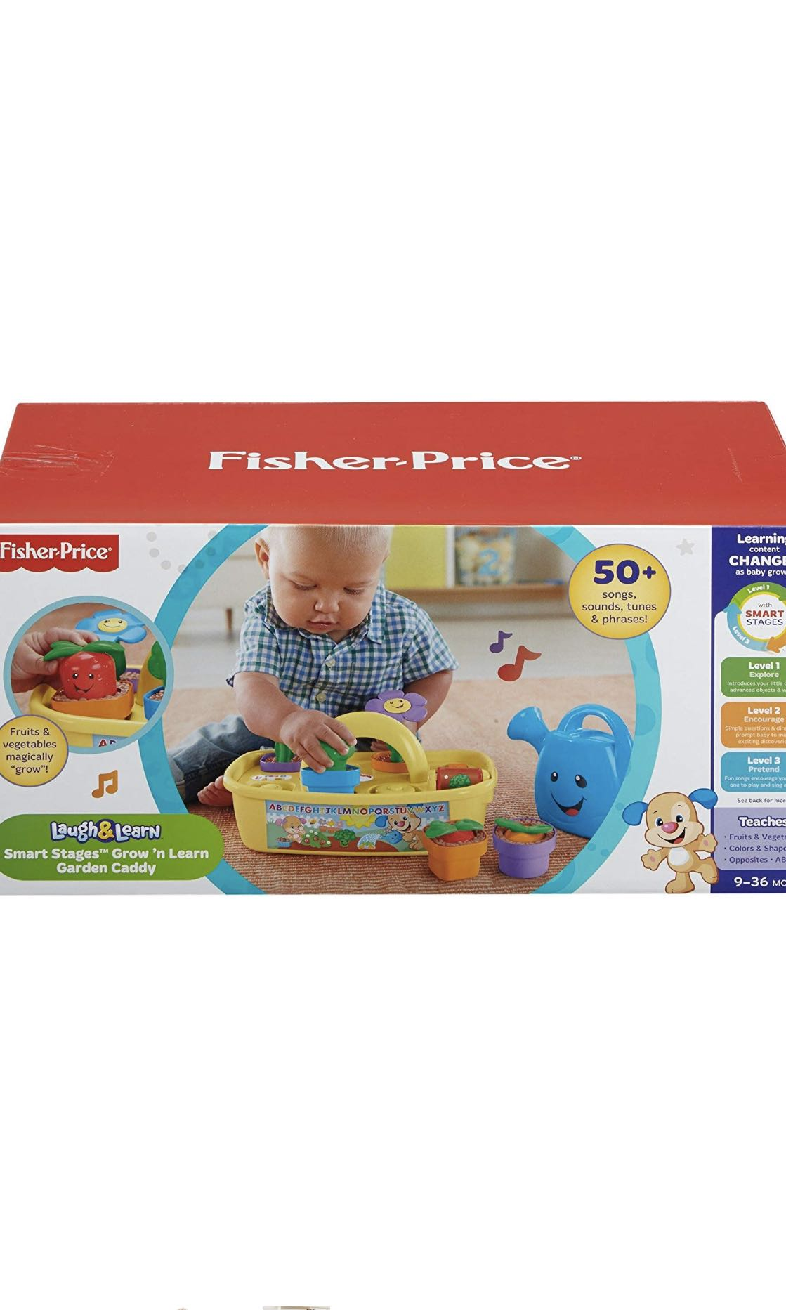 da8f33d7d429 Fisher-Price Laugh & Learn Smart Stages Grow 'n Learn Garden Caddy ...