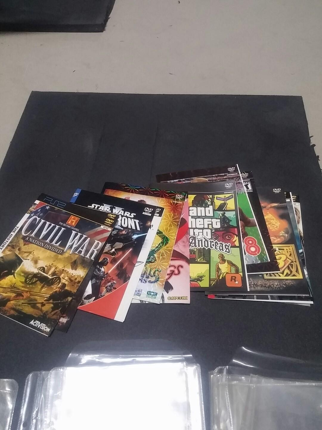 Free Clear Folder Sleeves (from used DVD games), Everything