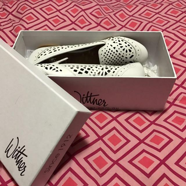 Genuine Wittner White Leather shoes (ladies size 7.5)