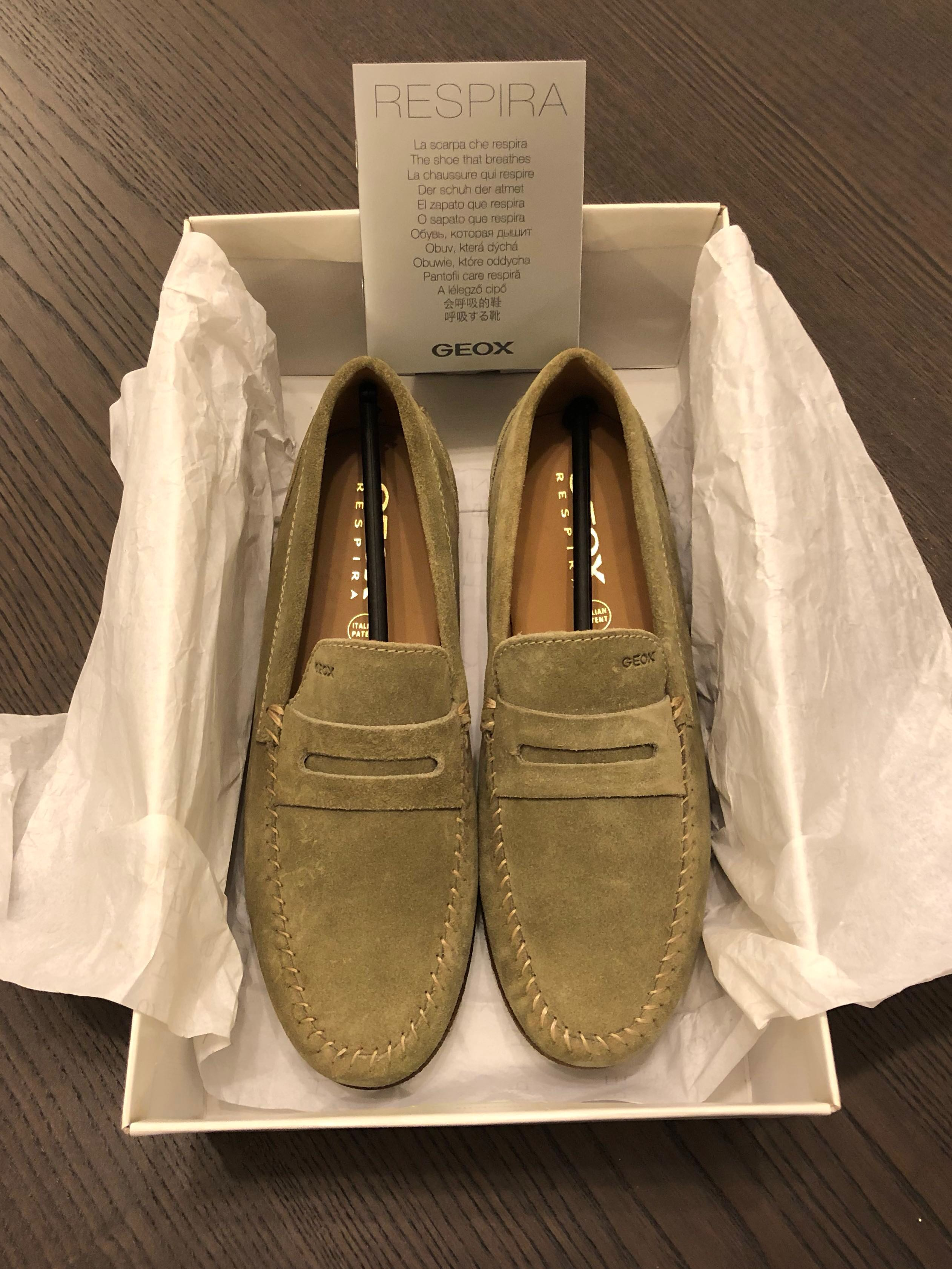 16411f240595d Geox Respira Loafers Brand new in Box Size 42, Men's Fashion, Footwear,  Others on Carousell