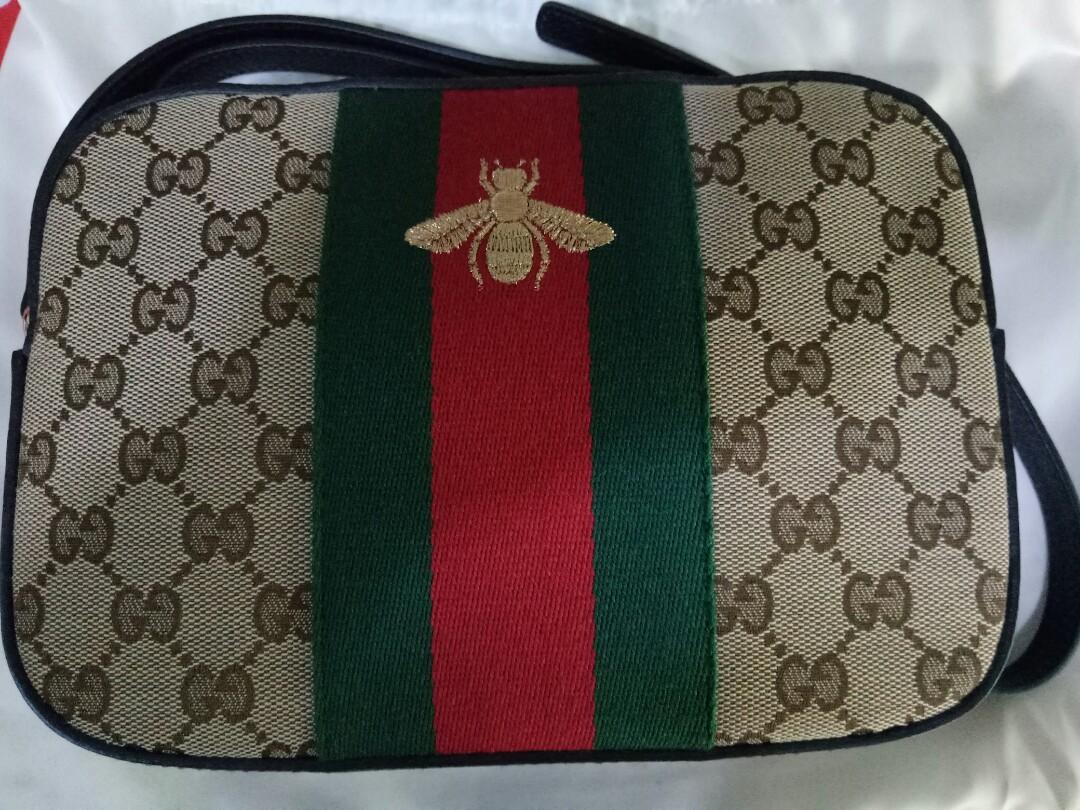 1dab812941b Gucci Bee Webbing Disco bag