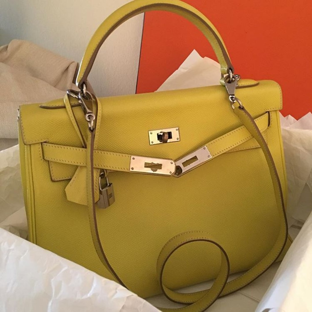 c27675a1b85 Hermes Kelly 32 in Lime