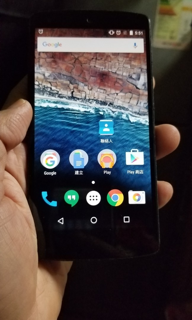 L G Nexus 5 LTE 4 95 inches display 2 GB ram 16gb rom memory internal NFC  function (rear shell there are floral Mark's and obsolete ) (me information