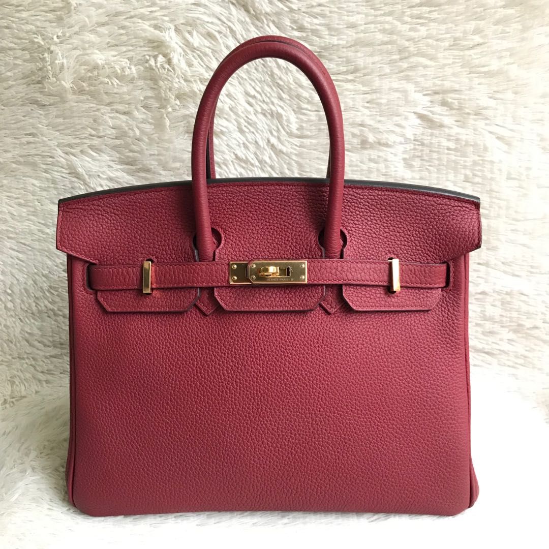 ff28f8ae70 Like New Full Set⚡️Hermes Birkin 25 red GHW Stamp A Receipt ...