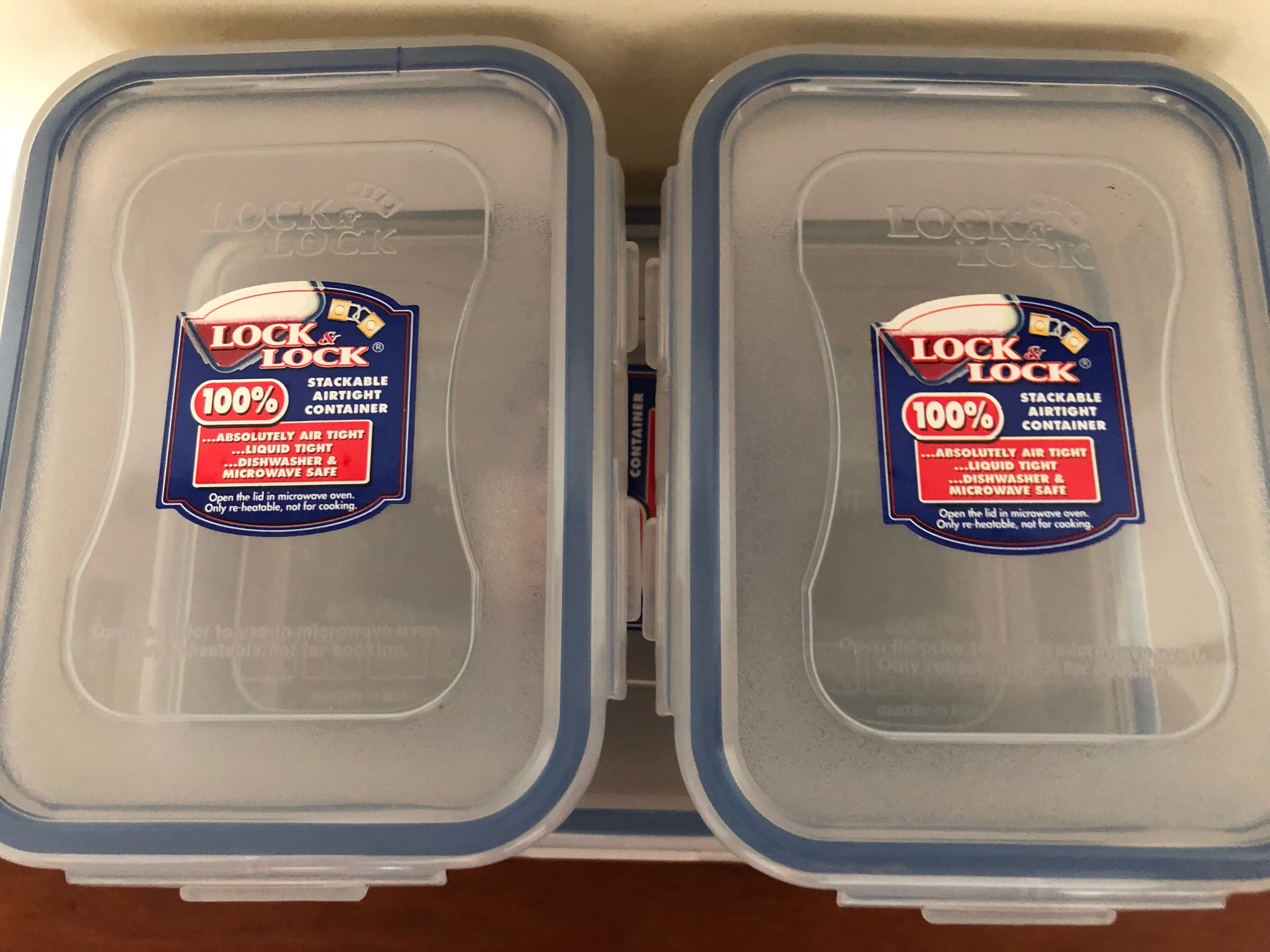 Lock & Lock Container Stackable 3pcs