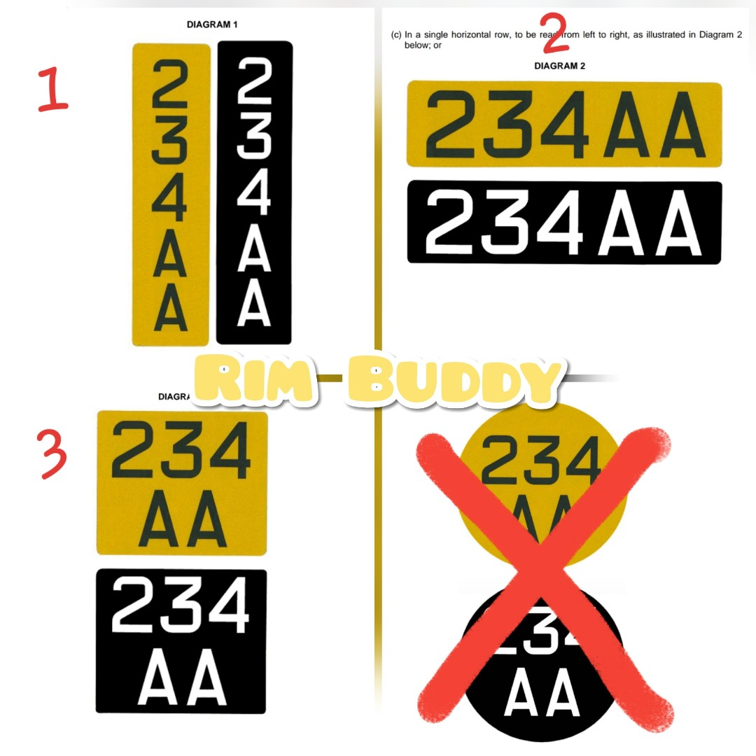 LTA Approved Registration Plates For Scooters, Bicycles