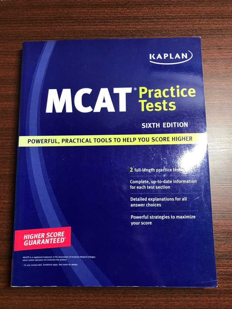MCAT Kaplan practice Tests 6th Edition, Books & Stationery