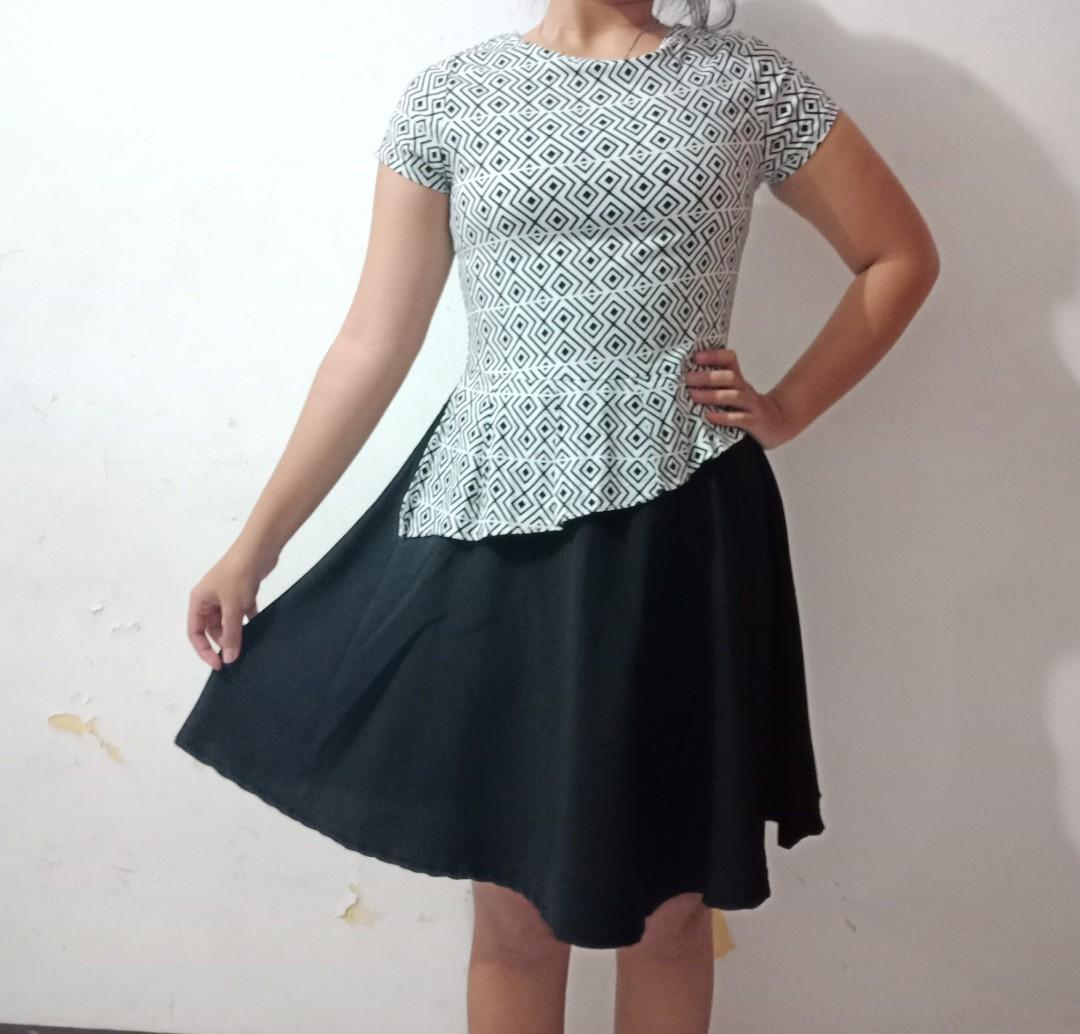 [NEGO] Dress hitam-putih