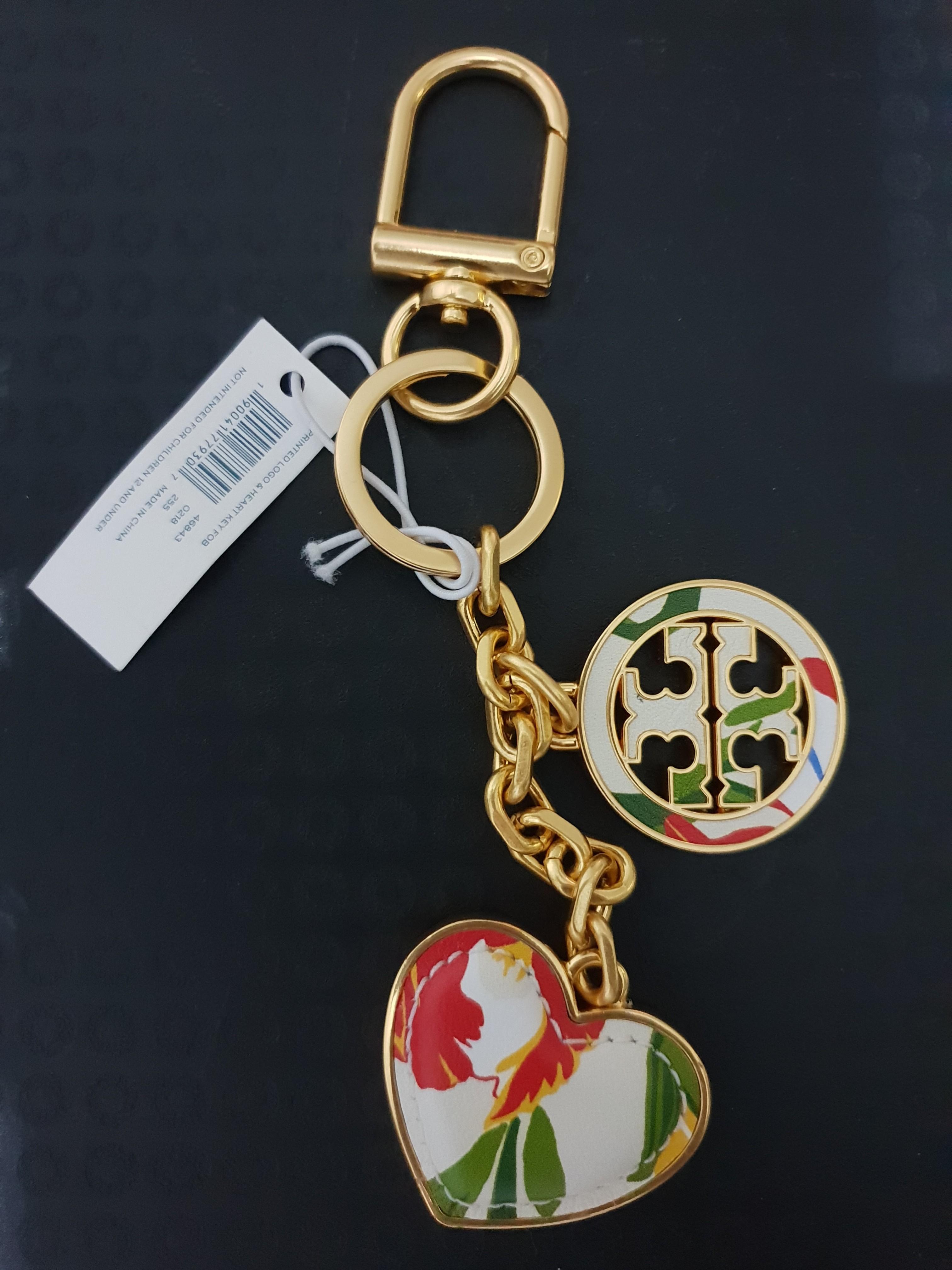 07afa65ba34 New! Pretty Tory Burch Floral key charm