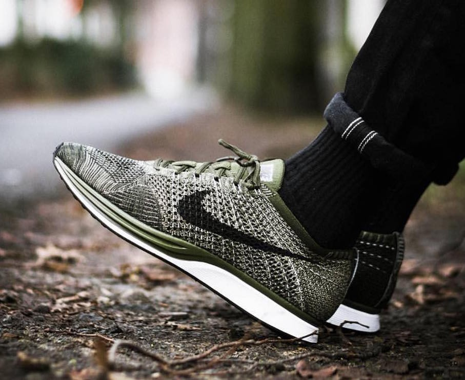 701e4d9c186b Nike Flyknit Racer Rough Green