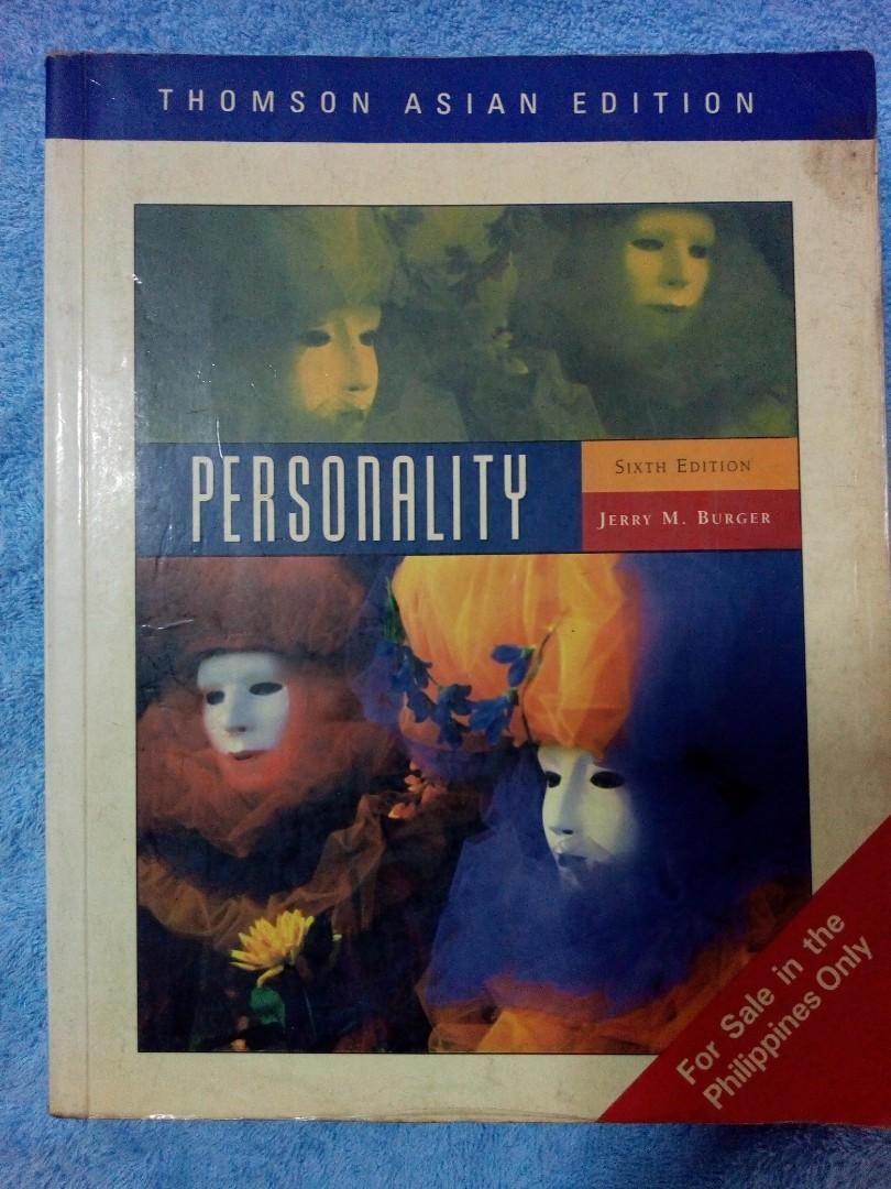 Psychology Book: Personality 6th Edition by Jerry Burger (2005 printing)