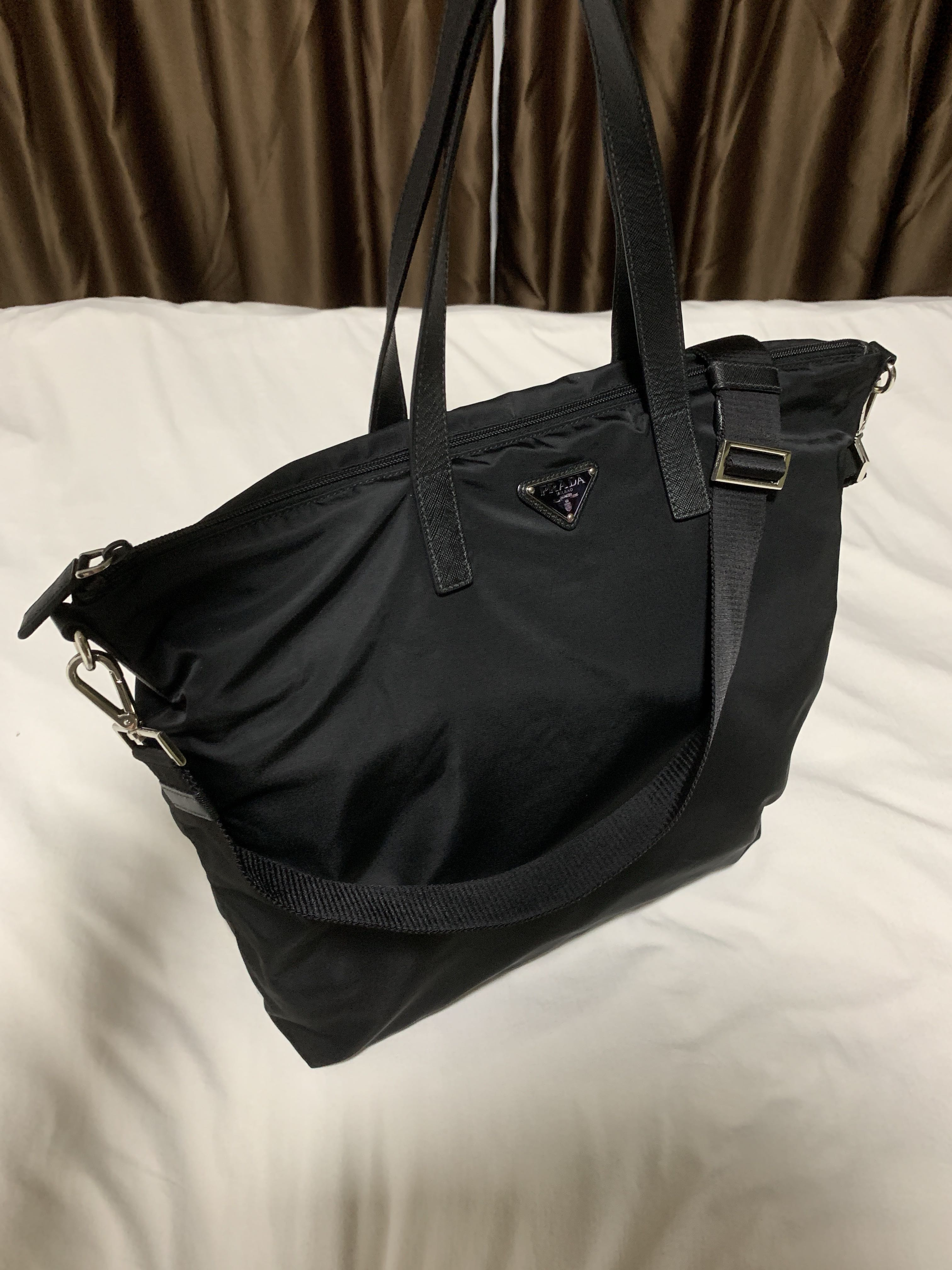 298474f086eb Prada Nylon Tote Bag, Men's Fashion, Bags & Wallets, Sling Bags on Carousell