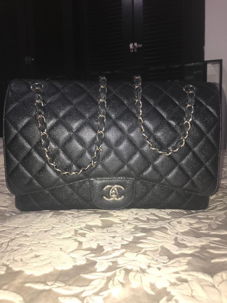 56652509d854 Preloved Premium Chanel Maxi Double Flap Caviar, Barangan Mewah, Beg dan  Dompet di Carousell