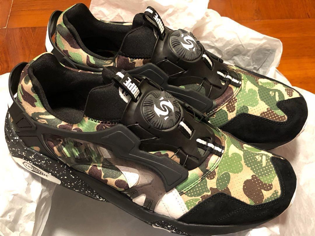 b7a2801be605f Puma Bape disc blaze camo green US11, Men's Fashion, Men's Footwear ...