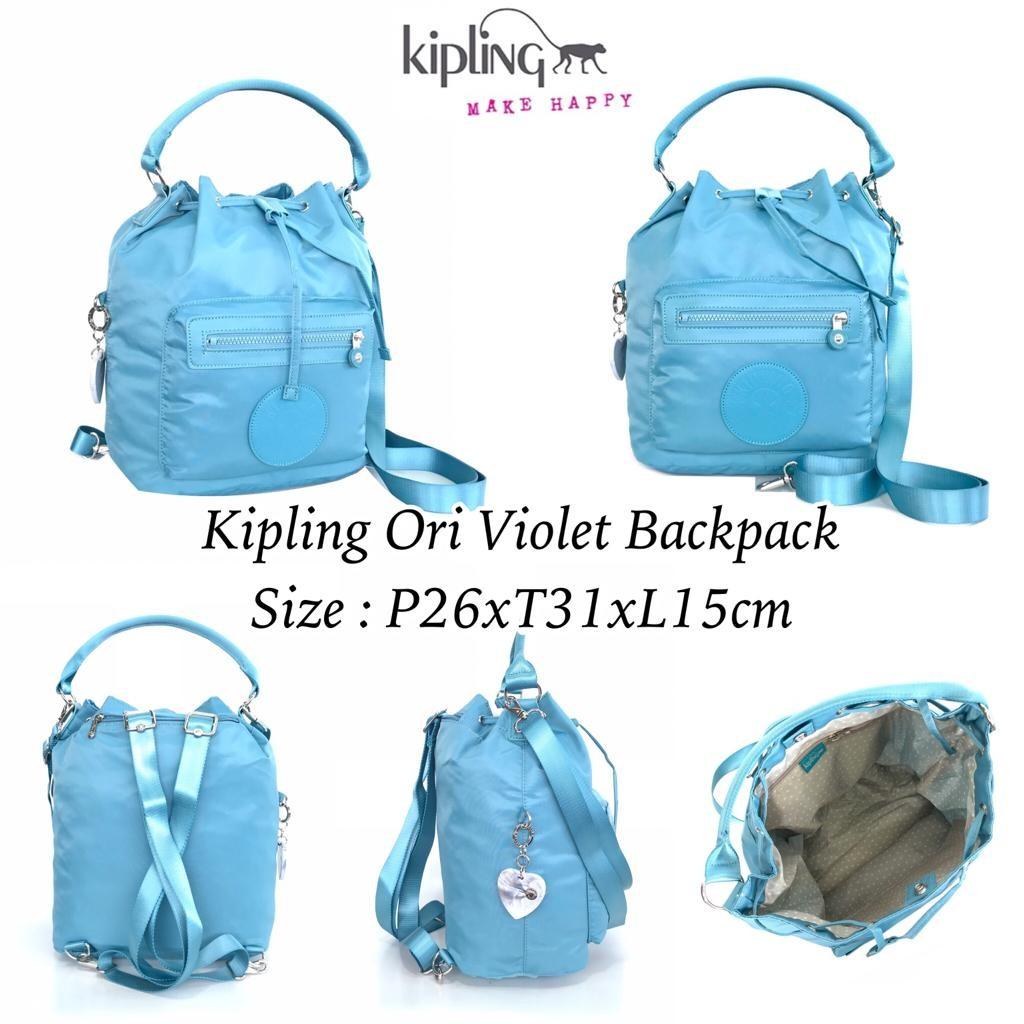 READY    Name   Kipling Ori Violet Backpack Size   P26xT31xL15cm Harga  Promo   rp. 625.000 Berat   0 c5b170c2d4