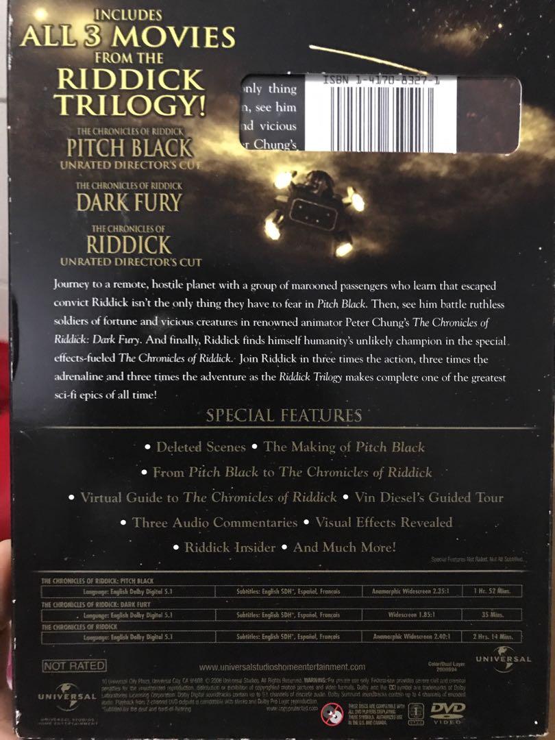 Riddick trikogy (DVD)