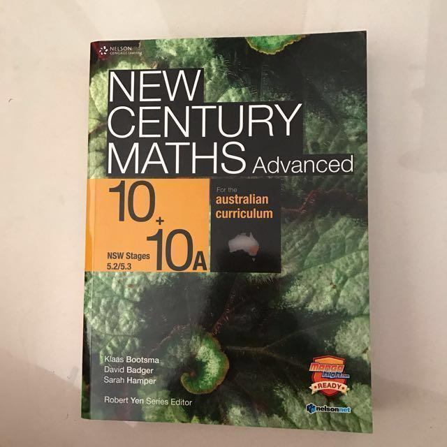 RTP:$65 😱 New Century Maths Advanced Textbook, Books & Stationery