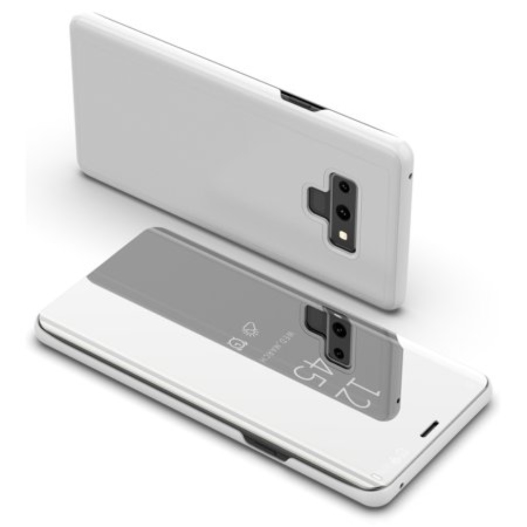 Samsung Note 9 Electroplated Mirror Flip Case (Silver)