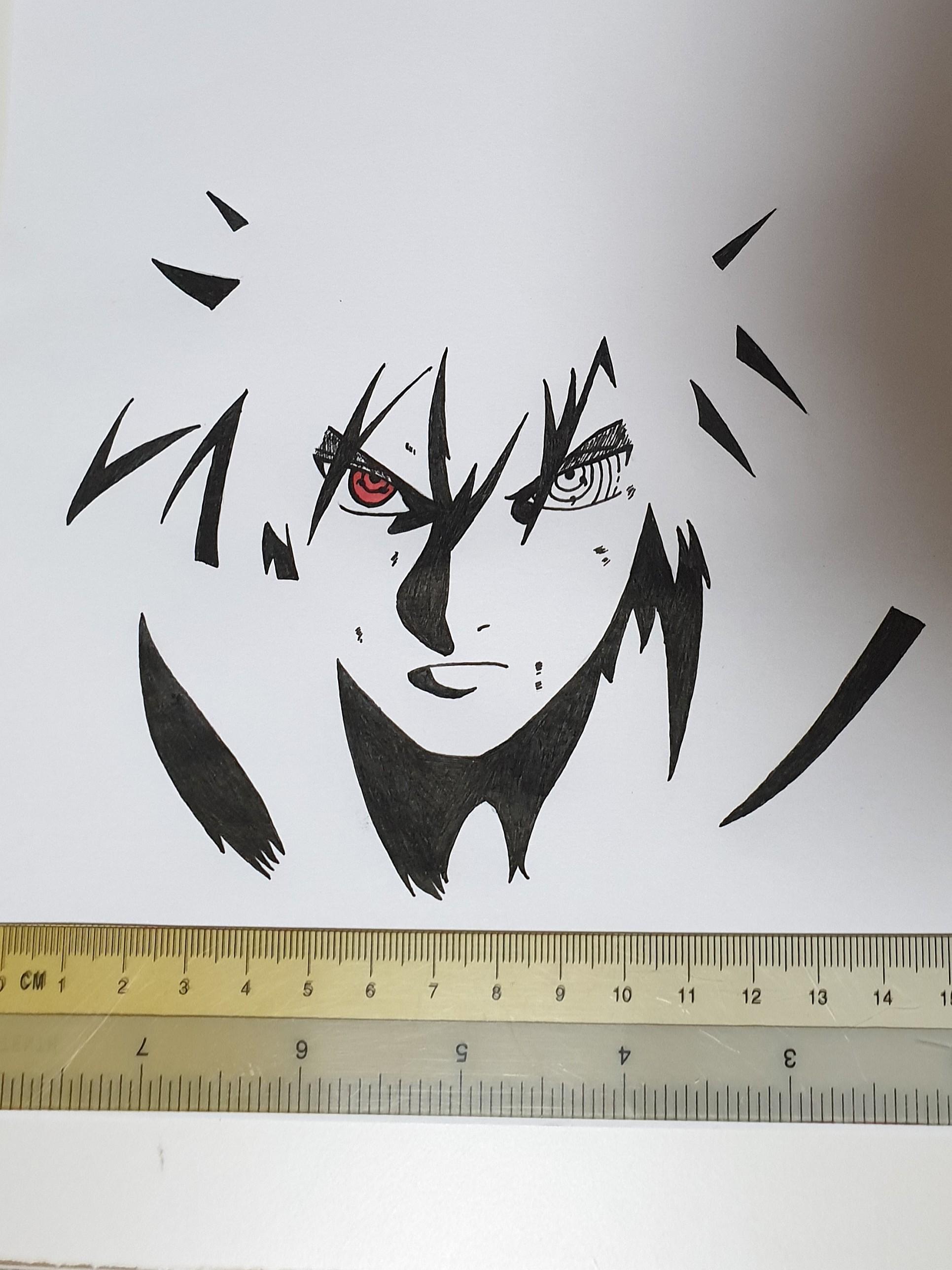 Sasuke Uchiha Art Drawing Rinnegan Sharingan Design