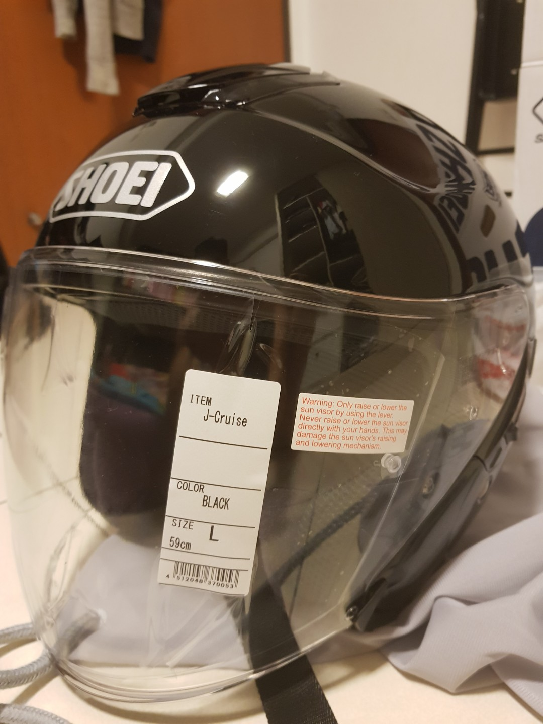 540033bd Black Shoei J-Cruise Open Face Helmet, Motorbikes, Motorbike Apparel ...