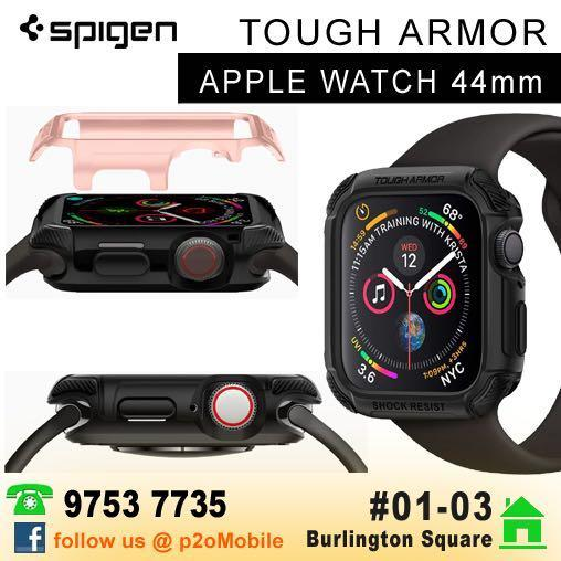 Spigen 44mm Tough Armor For Apple Watch Series 4 Mobile Phones Tablets Mobile Tablet Accessories Cases Sleeves On Carousell