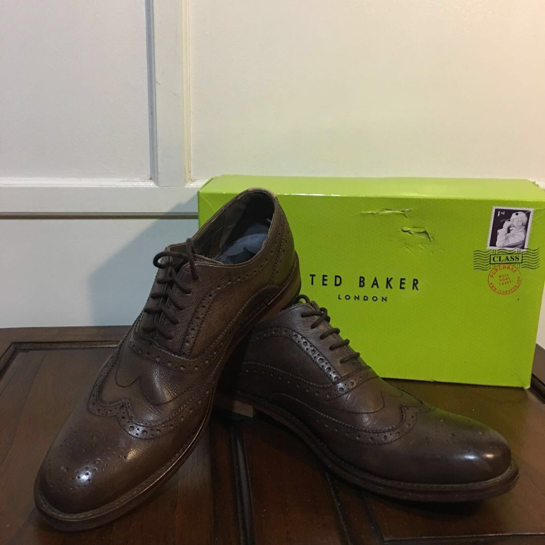 f2e4fbf8f Ted Baker Brown Guri 5 Men s Leather Shoes Brogue Lace Up (original ...