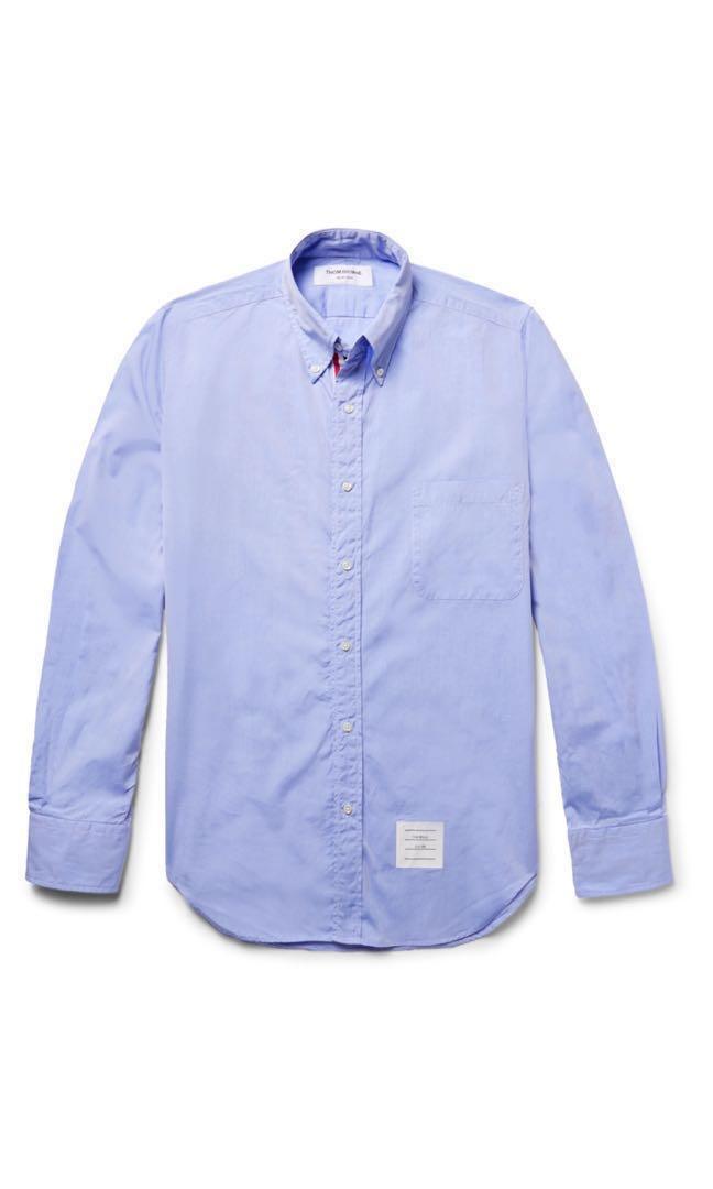4259a3c00baf Thom Browne Classic Grosgrain Placket Oxford Shirt