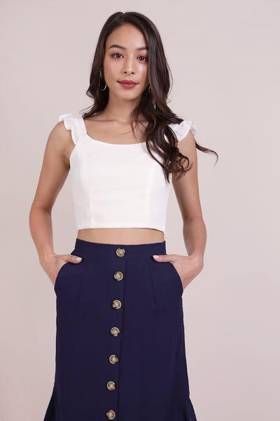 be3f85768c01b7 TTR Davina ruffles top in white, Women's Fashion, Clothes, Tops on ...