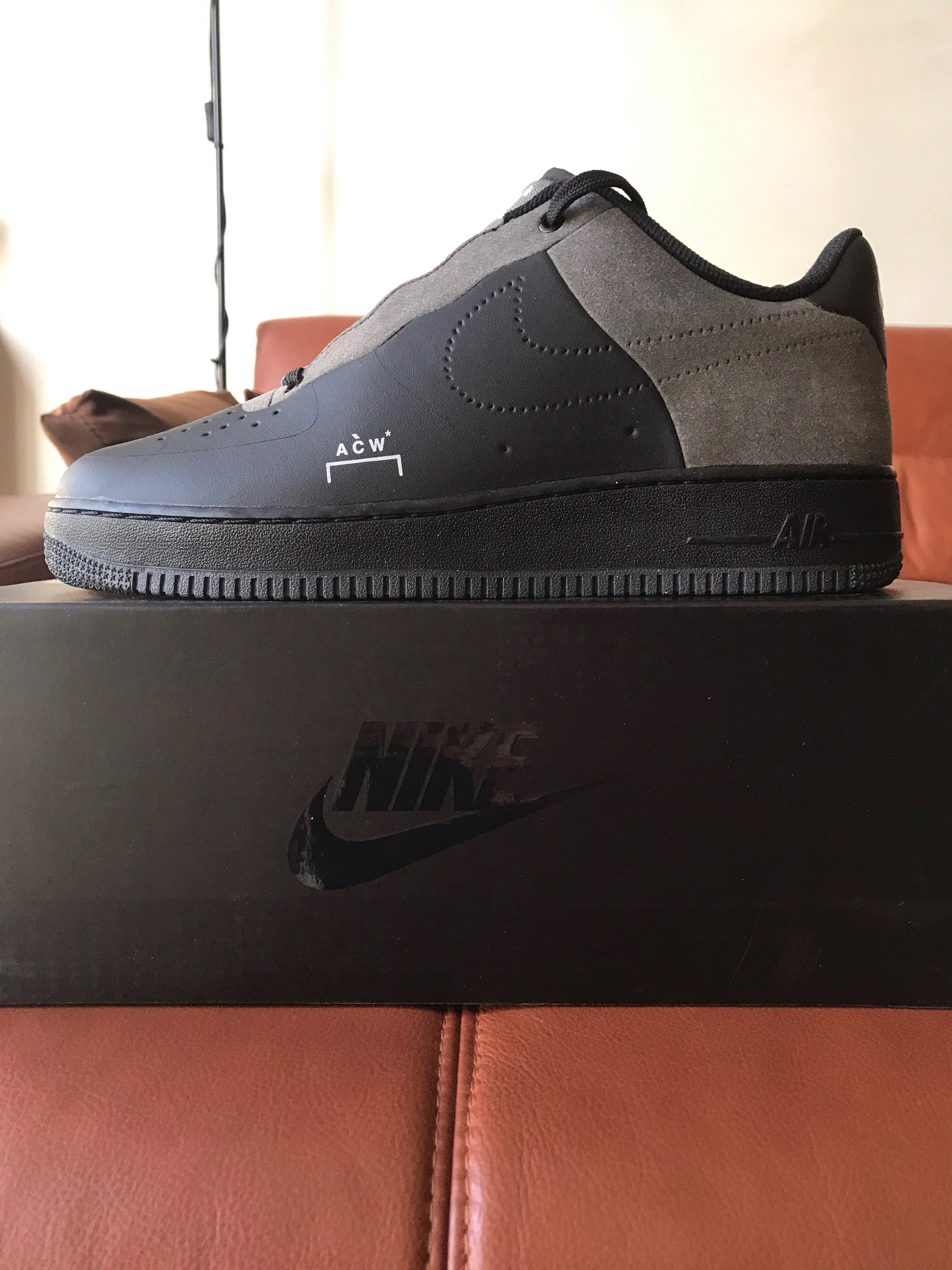 pretty nice 399ce 84a92 UK 9  US 10 A-COLD-WALL Nike x ACW AF1 Air Force 1 Low Black